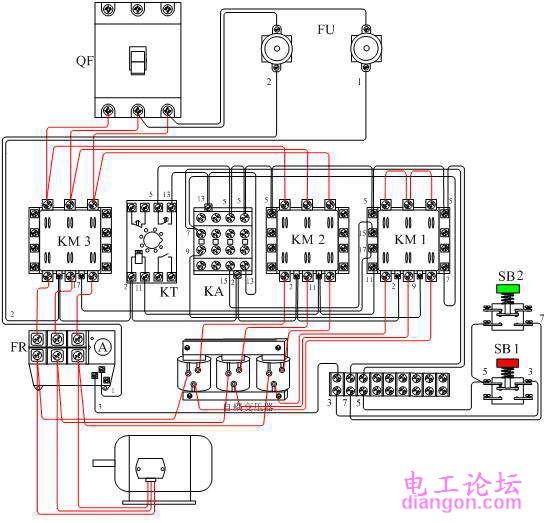 电动机自耦降压启动自动控制电路组图