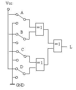 2个开关,3个开关和4个开关控制一盏灯 - 电路图分享