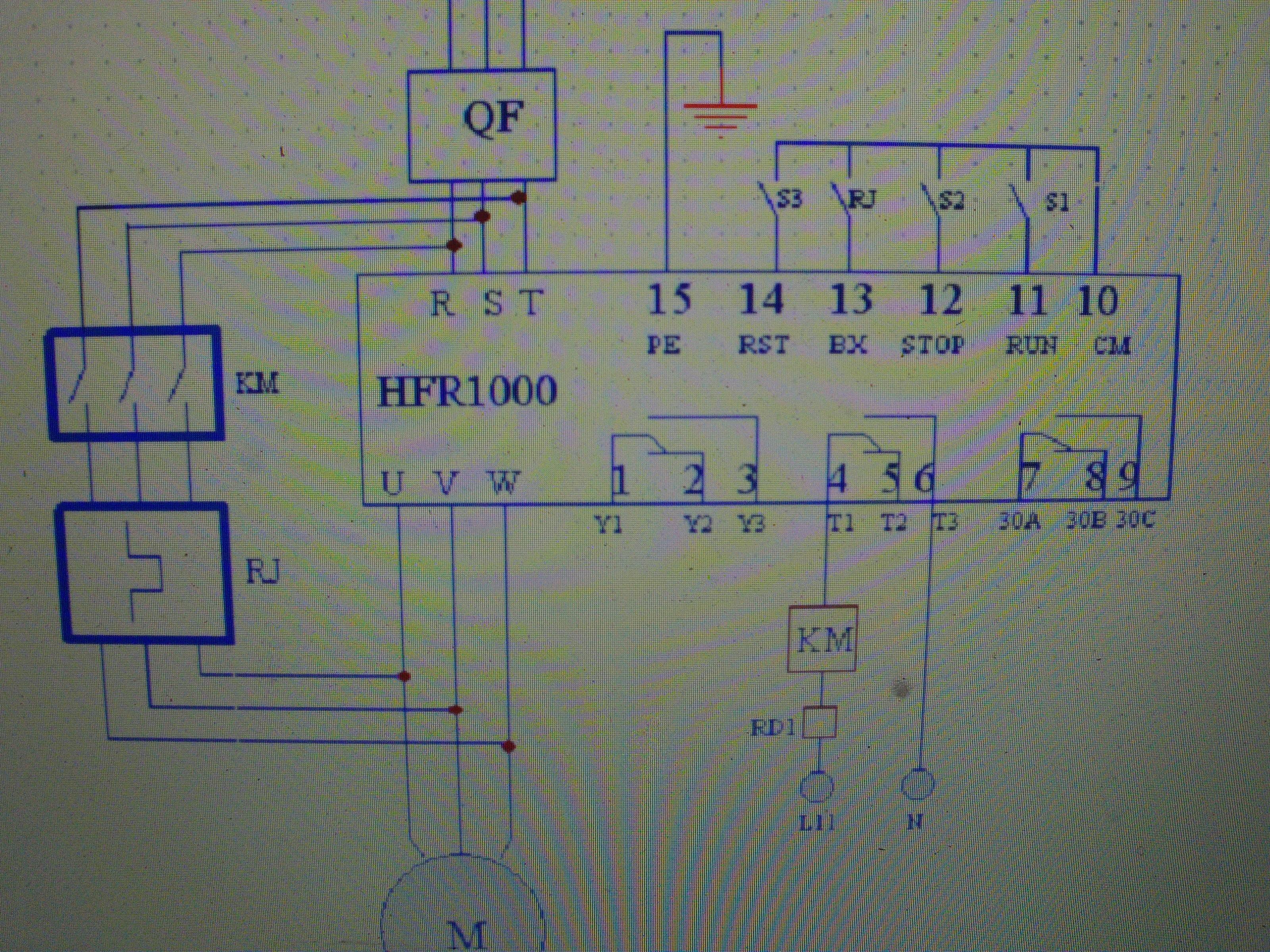 电机软启动器接线图