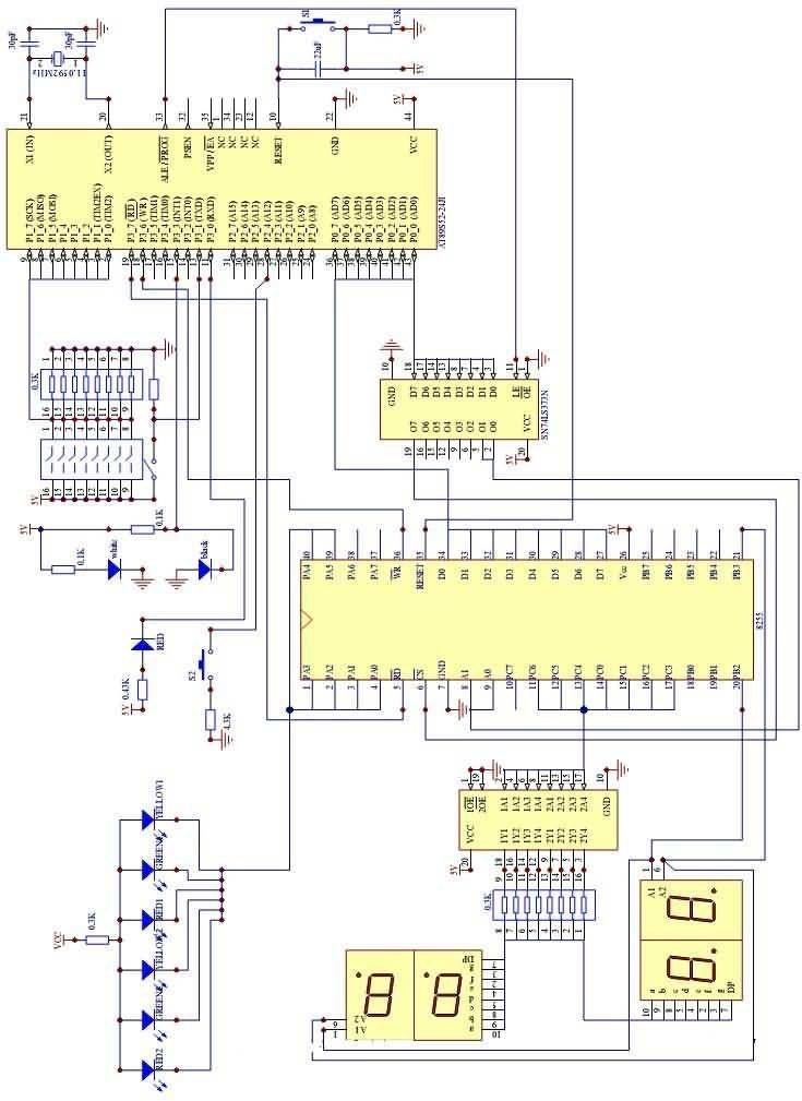 单片机交通灯控制毕业设计