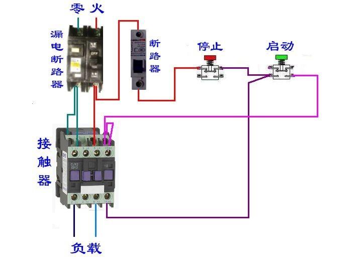 69 电工技术交流 69 电路图分享 69 交流接触器启动停止接线图