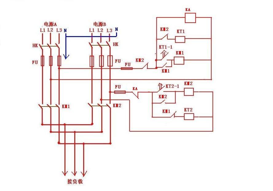 电工论坛 69 电工技术交流 69 电路图分享 69 双电源供电配电图