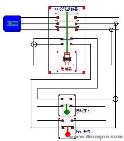 交流接触器实物接线图 - 电路图分享 电工论坛