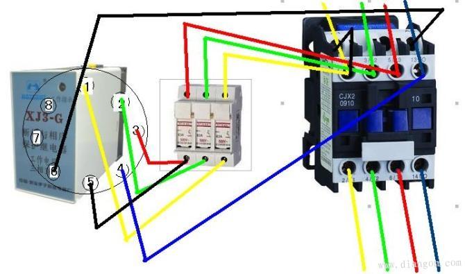 69 缺相和断相保护装置的接线方法         无刷电机或无刷控制器的