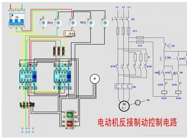一般的电机控制线接线图