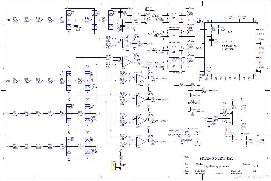 三菱a540-5.5变频器图纸 - 电路图分享 电工论坛