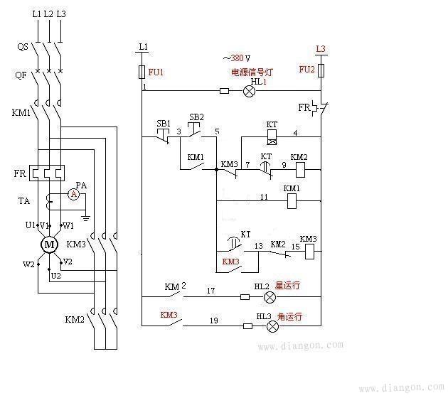 电动机星三角控制电路