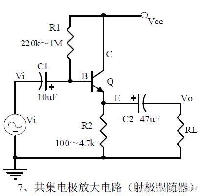 电压放大倍数,输入和输出的信号电压相位关系,交流和直流等效电路图