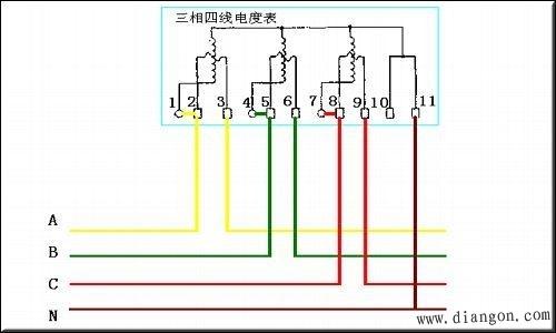 三相四线电流互感器接线图