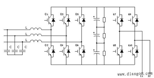 四象限变频器的工作原理电路图