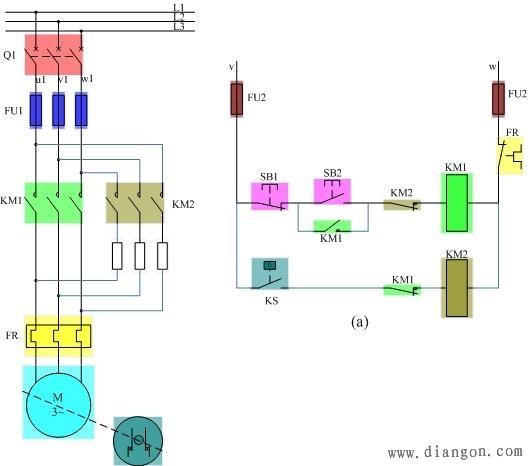 69 电工技术交流 69 电路图分享 69 反接制动控制线路工作原理