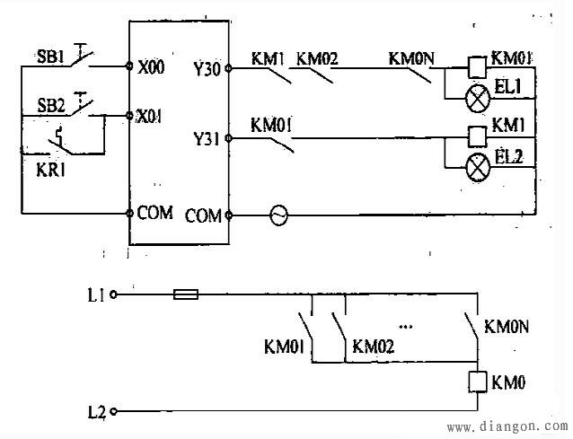 69 电机plc控制电路示意图  电动机, 示意图, 电机, 硬件
