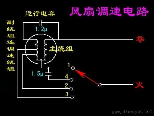 吊扇接线图_吊扇调速器接线图_吊扇电容接线图