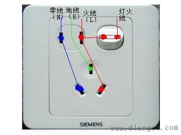 插座开关接线图_一开5孔插座接线图