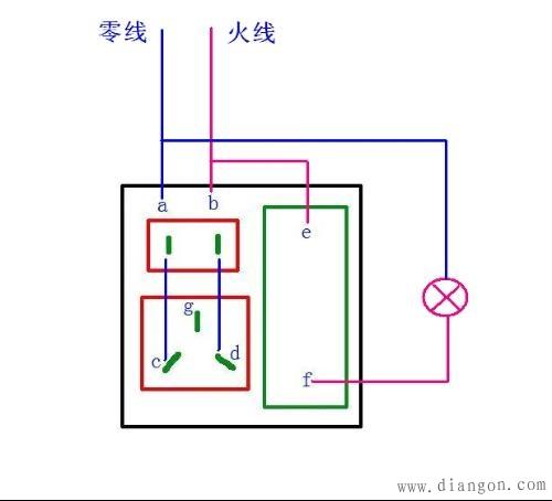 69 电工技术交流 69 电路图分享 69 插座开关接线图_一开5孔
