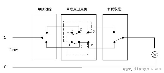 电灯接线图_电灯开关接线图_家用电灯开关接线图