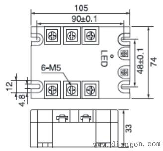 电压等级,能够可靠,安全,方便地控制三相交流电机,加热器等三相负载.