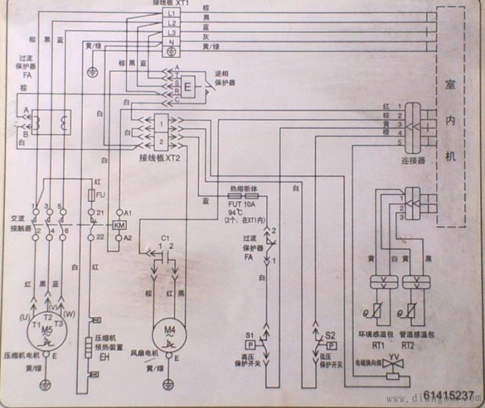格力三相空调接线图 - 电路图分享 电工论坛