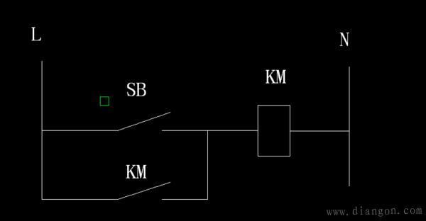 所谓自锁,是通过接线实现的保持接通的方式.