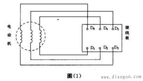 电动机接线方法分为星形(y),三角形(厶)两种连接方法.
