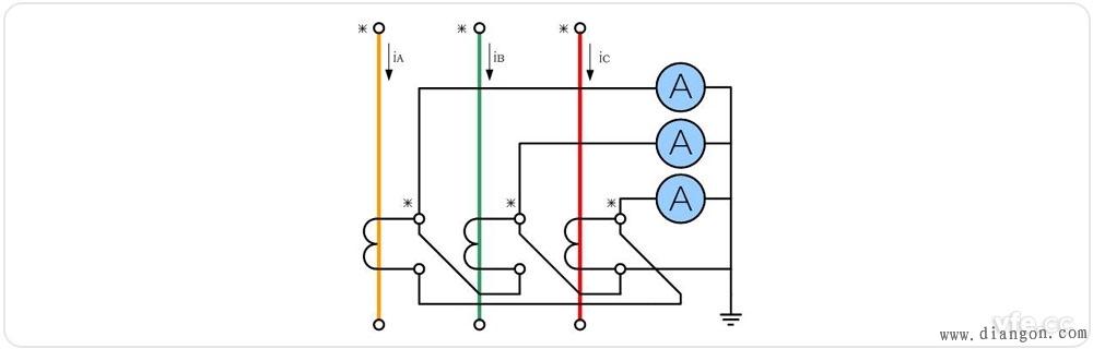进入电流表的正接线柱,电流表负接线柱出来后流入电流互感器二次端子s
