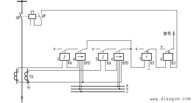 方向过电流保护的原理接线图 - 电路图分享 电工论坛