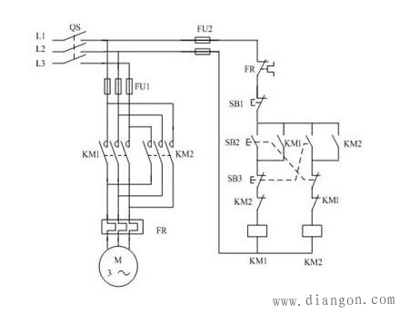 接触器自锁互锁电路图图片