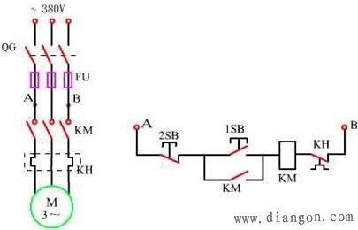 电机启动控制电路图 - 电路图分享 电工论坛