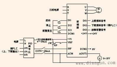 变频器控制电机接线图