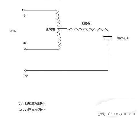220v交流电机正反转_220V交流电机如何控制正反转 - 电路图分享_电工学习网