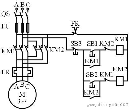 交流接触器互锁原理图解