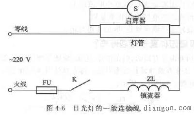 日光灯管连接方法 - 电工论坛 - powered by discuz!