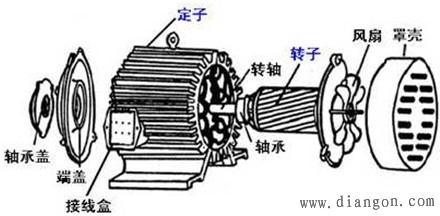 三相异步电动机的结构图