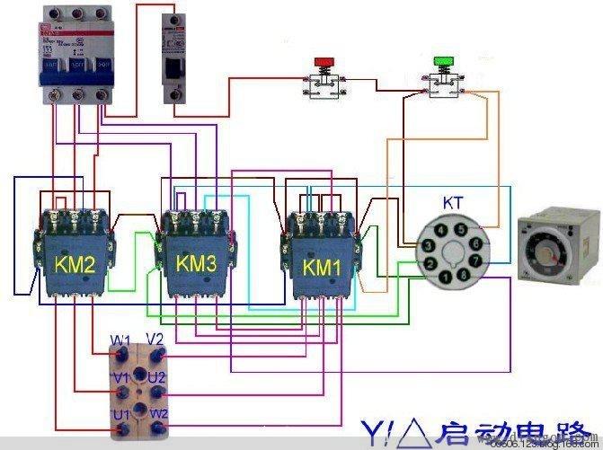 电器开关把六个接线端子转换成三角形连接并再次接到380v电源时每相