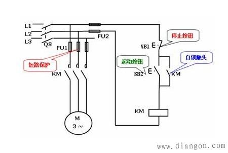 中间继电器的自锁接法 - 电工基础知识 电工论坛