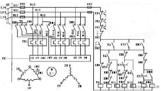 塔吊三速电机控制电气原理图 - 电路图分享 电工论坛