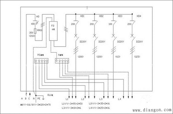 家庭配电箱接线图