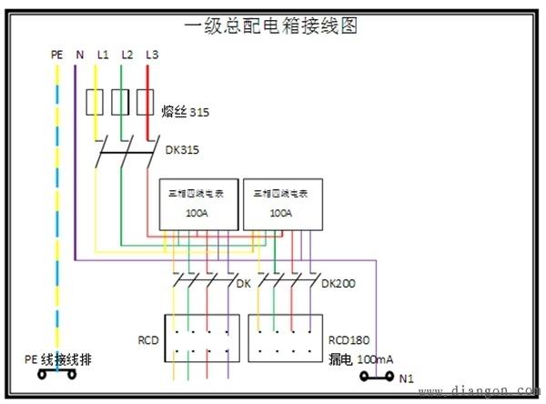 一级配电箱接线图 - 电路图分享 电工论坛