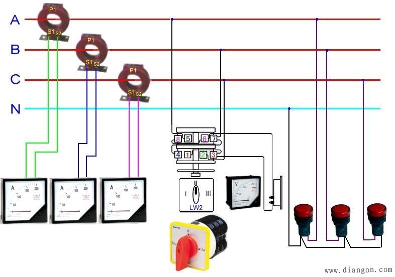 互感器电流表接线图图片