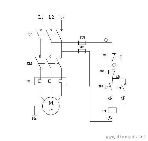 交流接触器和热继电器接线图