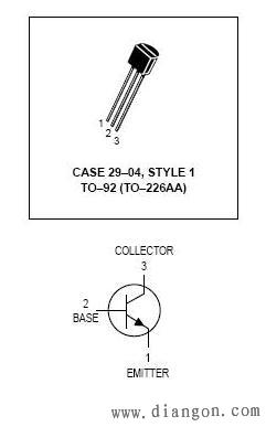 npn三极管引脚图