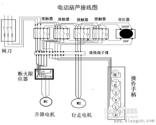 电葫芦开关怎么接?电动葫芦接线图
