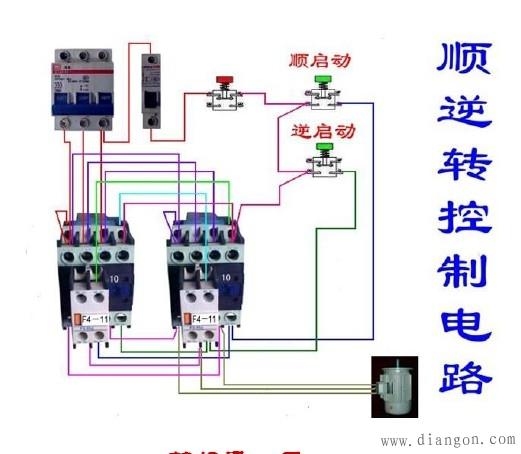 接触器互锁电路实物图