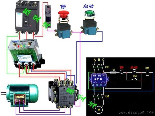 电动机综合保护器接线图
