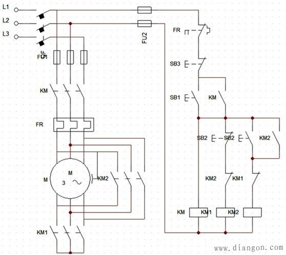 电工技术交流 69 电路图分享 69 电机星三角启动柜原理图和接线图