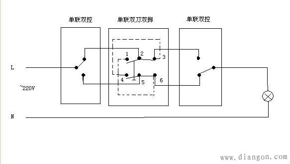 如何接三联控制?三联控制开关接线图