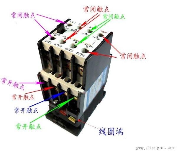 交流接触器接线图解