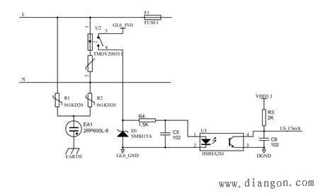 220v交流电源防雷保护电路