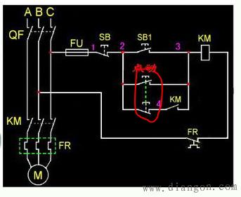 电动机点动自锁控制电路图