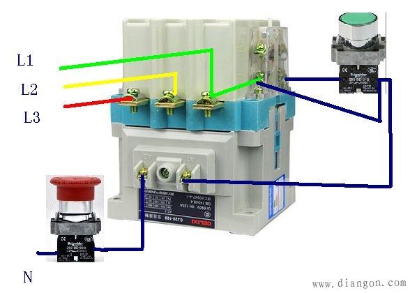 正泰cj20-160接触器实物接线图